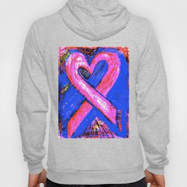 Super-Ribbon!! A Pink Ribbon for Breast Cancer Research by Jeffrey G. Rosenberg Hoody