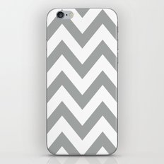 Gray Chevron iPhone & iPod Skin