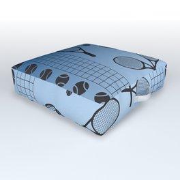 Tennis border blue Outdoor Floor Cushion