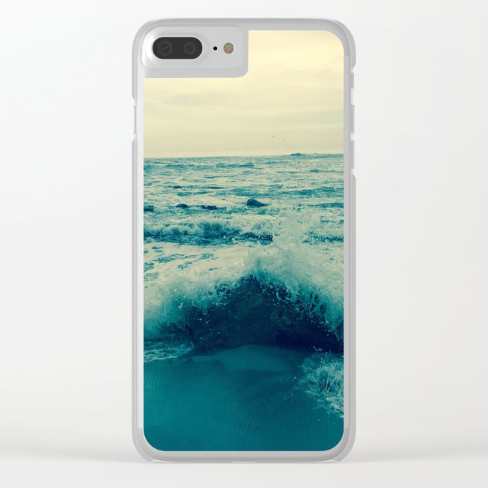 Waves crashing against rocks | Beach Clear iPhone Case