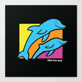 Dolphins. Canvas Print