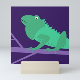 Kids Room Iguana – Children Illustration for Boys and Girls Mini Art Print