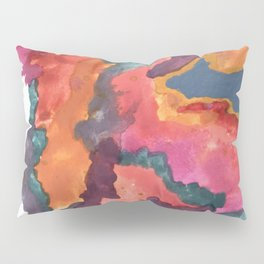 Carnival: a vibrant mixed media piece inspired by New Orleans Pillow Sham