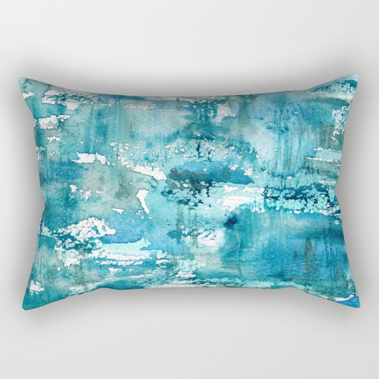 Turquoise blue passion || watercolor Rectangular Pillow