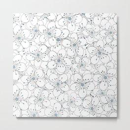 Cherry Blossom Blue - In Memory of Mackenzie Metal Print