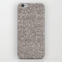 Silver Glitter I iPhone Skin