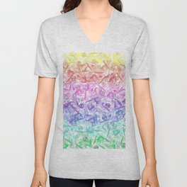 Crystal Gemstone Background Pattern - Geodes + Quartz Points Unisex V-Neck