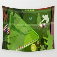 pool Wall Tapestries featuring Pool by Robin Curtiss