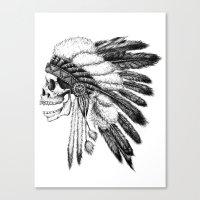native american Canvas Prints featuring Native American by Motohiro NEZU