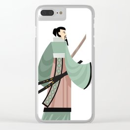 unarmored samurai with katana blades Clear iPhone Case