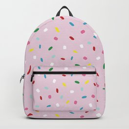 Sweet glazed, with colorful sprinkles on pink melting icing Backpack
