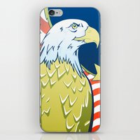 patriotic iPhone & iPod Skins featuring Patriotic Eagle by whiterabbitart