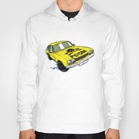 ford Hoodies featuring Ford Capri by Ricardo Reis Illustration