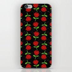 Rose Outline   Floral iPhone & iPod Skin