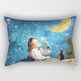 One Wish Upon the Moon Rectangular Pillow
