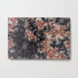 Pink and black Jasper Metal Print