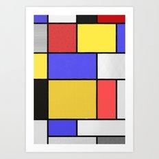 Piet Mondrian Patterns Art Print