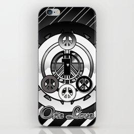 One Love (Black) iPhone Skin