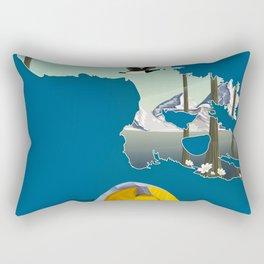 Baffin island Canada travel poster, Rectangular Pillow