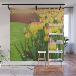 Yellow Red Tulips Wall Mural