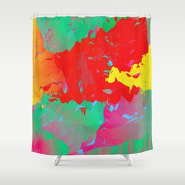 Abstract Paint Gradient Shower Curtain