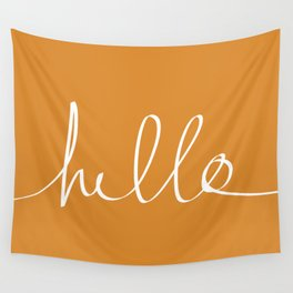 Hello, Pumpkin Wall Tapestry