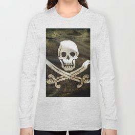 Pirate Skull in Cross Swords Long Sleeve T-shirt