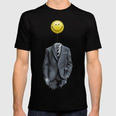 Mr. Smiley :) X-LARGE Black Mens Fitted Tee