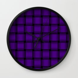 Large Indigo Violet Weave Wall Clock