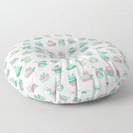 Choco Mint Rabbit Floor Pillow
