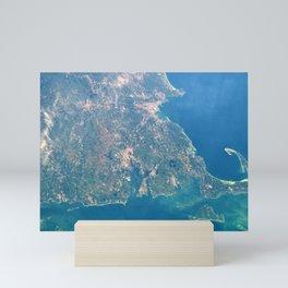 Satellite View Of New England, Rhode Island, Cape Cod, Martha's Vineyard & Narragansett Bay Mini Art Print