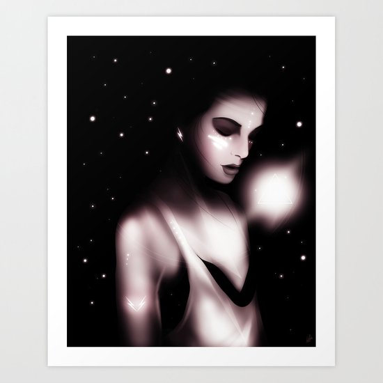 Listening to The Sound of Thunder Art Print
