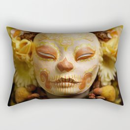 Golden Harvest Muertita Detail Rectangular Pillow