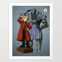 fullmetal alchemist Art Prints featuring Alchemist of Steel by CromMorc