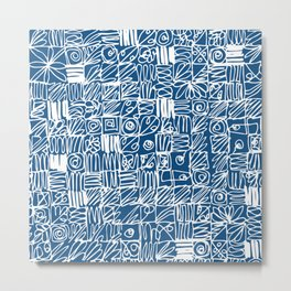 Be Square. Be a classic with an attitude. Metal Print