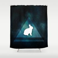 kendrick lamar Shower Curtains featuring Lamar in SpaceTime by Emir Uckan / Digital Artist