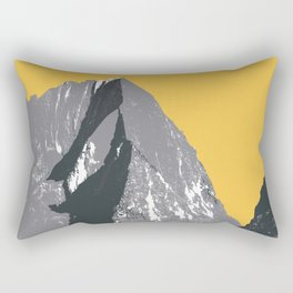 Super cool vector mountain with a yellow sky Rectangular Pillow