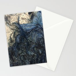 Primordial Dream Blue Abstract Stationery Cards