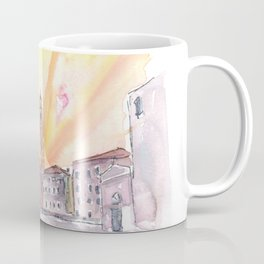 Quiet Campo Sant Angelo with View of Santo Stefano in Venice Coffee Mug
