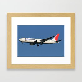 Oneworld (Japan Airlines - JAL) Boeing 767-346 Framed Art Print