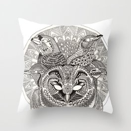 Dawn Chorus Throw Pillow
