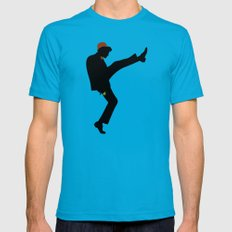 The 11th Doctor of Silly Walks LARGE Mens Fitted Tee Teal