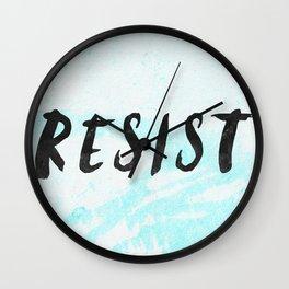 RESIST 5.0 - Black on Teal #resistance Wall Clock