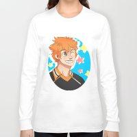 haikyuu Long Sleeve T-shirts featuring Hinata Haikyuu!! by Dreki