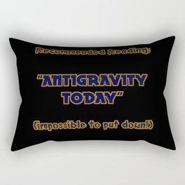 """Funny One-Liner """"Antigravity"""" Joke Rectangular Pillow"""