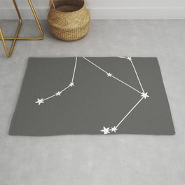 Libra (White & Grey Sign) Rug