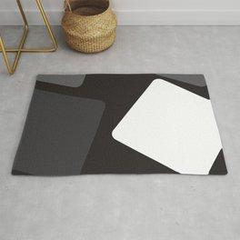 black white grey Rug