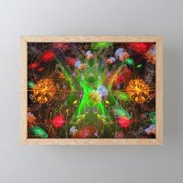 Bioluminescent Plankton and Jellyfish Framed Mini Art Print