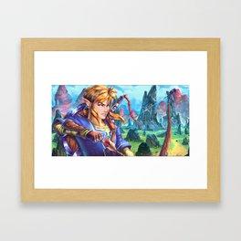 Zelda U Link painting Framed Art Print