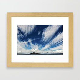 Sky and Clouds at Lake Titicaca Peru - Bolivia in the Andes Mountains Photograph Framed Art Print